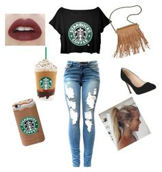 """Starbuck kinda girl"" by destinyreyes9255 on Polyvore"