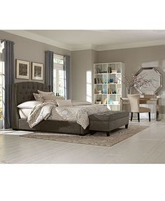Lesley California King Bed - Beds - furniture - Macy's