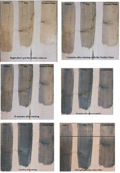 How To Make Wood Stain - using coffee, tea and vinegar. Easy and inexpensive way to make non-toxic stain.