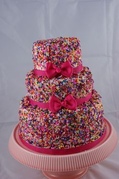 Sprinkle Cake, Chelsea this one is for you! | ***Did you know that #pinterest is... click to read more http://pinterest.com.br.ms