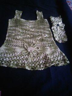 Crochet baby frock n head band