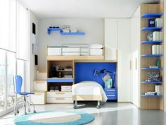 Shelve in the side of the room, Shelve above bed [wrong place for me]