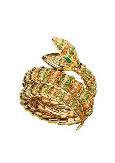 b1f4e0971a9 Bulgari Serpenti double spiral snake bracelet watch with a yellow gold  case
