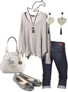 capri and sweater outfit