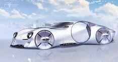 Porsche on Behance Car Design Sketch, Car Sketch, Automotive Design, Adobe Photoshop, Industrial Design, Porsche, Behance, Cars, Vehicles