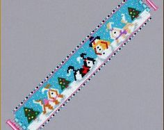 Penguin Row Peyote Bracelet Pattern by Kristyz on Etsy