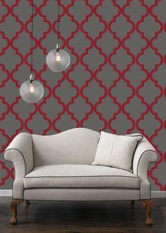 Marrakesh Tempaper Wallpaper...Different colors, perhaps an accent wall?