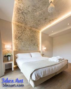 10 Best Unique Ideas: False Ceiling Bedroom Bathroom false ceiling design new.False Ceiling Lights Home Theaters false ceiling design cabinets. Bedroom False Ceiling Design, Bedroom Ceiling, Modern Bedroom Design, Master Bedroom Design, Home Interior Design, Bedroom Designs, Bedroom Lighting, Contemporary Bedroom, Luxury Interior