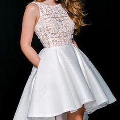 Jovani Beaded High Low Prom Dress