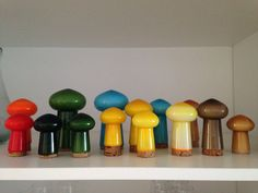 Collection of Holmegaard Bang salt and pepper shakers