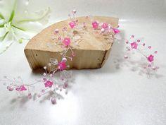 Couronne fleurs mariage Swarovski bijou cheveux : Accessoires coiffure par douce-fantaisie #faitmain et fabriqué en France. Personnalisation possible, n'hésitez à me contacter