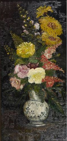 Painting by Vincent van Gogh (1853-1890), 1886, Vase with flowers, oil on canvas.