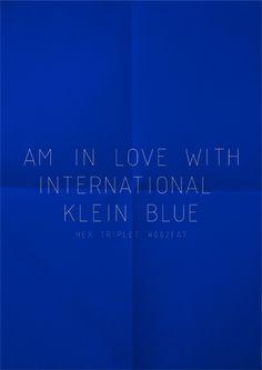 International Klein Blue. #lechateaucollection #cobalt #lccinspiredbycolour
