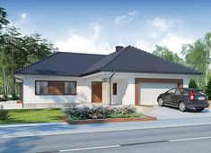 Jeremiasz 2 PS - zdjęcie 1 House Layout Plans, House Layouts, Roof Extension, Hip Roof, House Painting, Grenada, Gazebo, Outdoor Structures, House Design