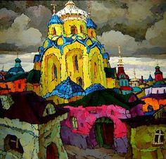 La pintura porción el artista Ruso Valery Veselovsky