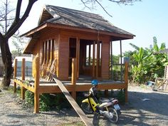 Small Wooden House | small house made of teak.