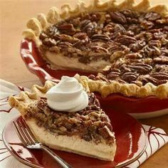 Pecan vanilla cheesecake pie