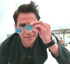 Luke Pasqualino, Mirrored Sunglasses, Crushes, Fashion, Moda, Fashion Styles, Fashion Illustrations