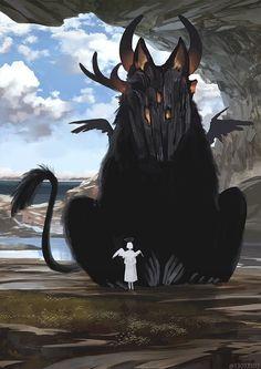 Giant Animals, Big Animals, Creature Concept Art, Creature Design, Fantasy Beasts, Fantasy Art, Mythical Creatures Art, Illustration, Monster Art