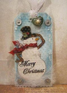 Geinspireerd door Tim Holtz 12 tags of Christmas 2010 - day 10