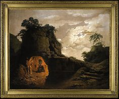 Virgil's Tomb by Moonlight, with Silius Italicus Declaiming, Joseph Wright (Wright of Derby) , 1779