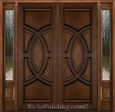 27 Ideas Double Door Design Entrance Woods For 2020 Double Doors Interior, Entrance Design, Wooden Door Design, Double Doors Exterior, Mahogany Wood Doors