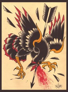 traditional crow tattoo - Google Search