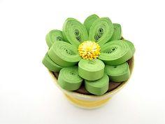 Succulent Plant Sculpture / Quilled Paper Flower Art / Flower Centerpiece / Floral Decor / Simply Quilled
