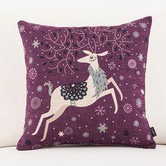 手绘小动物 猫咪小兔可爱卡通清新办公室棉麻沙发靠垫抱枕车用靠-淘宝网全球站