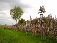 Backside of the infamous Hill of Crosses