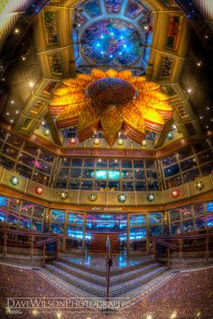 The Sunflower Atrium on the Carnival Conquest. I will be going on this ship someday!!! Such elegance !!!