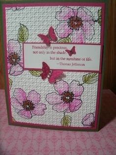 Florets and Precious Butterflies by Londonblue - Cards and Paper Crafts at Splitcoaststampers