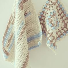 ByHaafner, crochet, pastel, stripes, granny square, wip