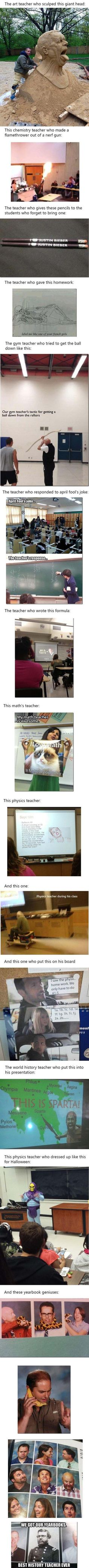 I would be happy if one of my teachers do this