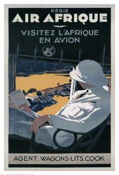 Air Afrique A. Roquin Fine Art Print Poster