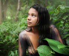 "Brazilian Desana Girl,Rio Negro (Amazon)  The Desana people call themselves ""People of the Universe""."