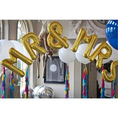 mr and mrs jumbo metallic letters by bubblegum balloons | notonthehighstreet.com