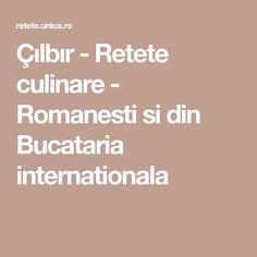 Çılbır - Retete culinare - Romanesti si din Bucataria internationala