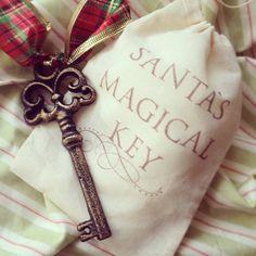 PERSONALIZED SANTA KEY by baybeedahlboutique on Etsy, $13.99 #christmas #santakey