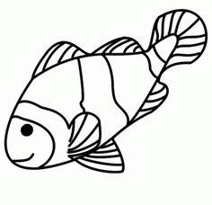 pez payaso para imprimir