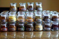 spice jars.