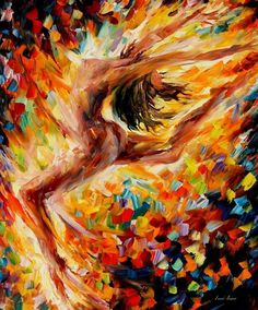 "THE DANCE OF LOVE — Oil Painting On Canvas By Leonid Afremov Size: 24""x30"" #Impressionism"
