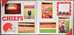 Cricut Crazy Scrapper: Sports Stadium layout