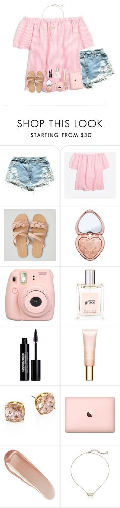 """happy easter ✨"" by pineapple5415 ❤ liked on Polyvore featuring J.Crew, American Eagle Outfitters, Too Faced Cosmetics, Fujifilm, philosophy, Edward Bess, Clarins, Tory Burch, NARS Cosmetics and Kendra Scott"