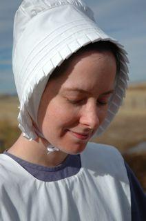 Beautiful Amish and mennonite women in town