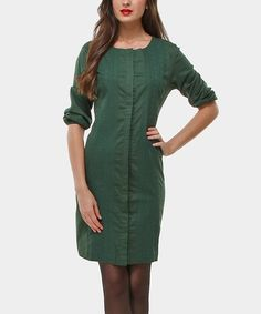 Love this Green Comic Button-Up Dress by Almatrichi on #zulily! #zulilyfinds