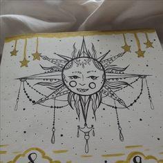 bullet journal sun journalling mandala stars drawing Bullet Journal Inspo, Bullet Journals, Drawing Projects, Scrapbook Pages, Scrapbooking, Easy Drawings, Mandala, Doodles, Crafty