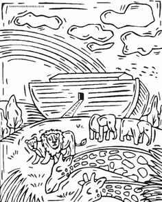 Sunday School Coloring Page Noah's Ark