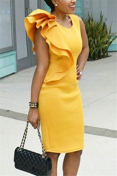 VERYVOGA Solid Sleeveless Bodycon Knee Length Casual/Elegant Dresses - Casual Dresses - Ideas of Casual Dresses Stylish Dresses, Elegant Dresses, Beautiful Dresses, Casual Dresses, Short Dresses, Sexy Dresses, Summer Dresses, Formal Dresses, Wedding Dresses