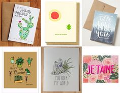 Our favorite plant-inspired Valentine's Day Cards